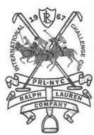 INTERNATIONAL 1967 CHALLENGE CUP PRL-NYC RALPH LAUREN COMPANY RL