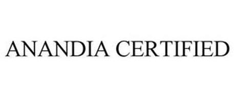 ANANDIA CERTIFIED