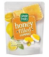 SIMPLE TREATS HONEY FILLED GUMMIES NO ARTIFICIAL COLORS OR FLAVORS NO PRESERVATIVES OR SWEETENERS GLUTEN FREE
