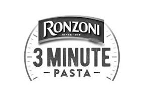 RONZONI SINCE 1915 3 MINUTE PASTA