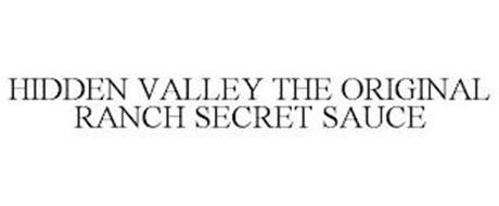 HIDDEN VALLEY THE ORIGINAL RANCH SECRETSAUCE