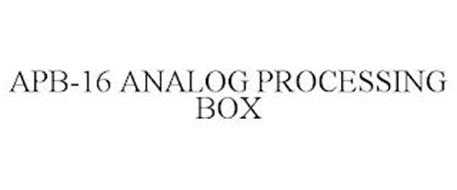 APB-16 ANALOG PROCESSING BOX