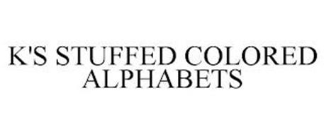 K'S STUFFED COLORED ALPHABETS