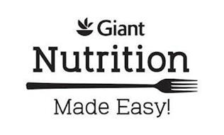 GIANT NUTRITION MADE EASY!