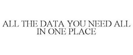 ALL THE DATA YOU NEED ALL IN ONE PLACE