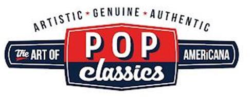 POP CLASSICS THE ART OF AMERICANA ARTISTIC GENUINE AUTHENTIC