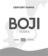 CENTURY FARMS BOJI VODKA IOWA VODKA