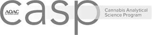 AOAC INTERNATIONAL CASP CANNABIS ANALYTICAL SCIENCE PROGRAM