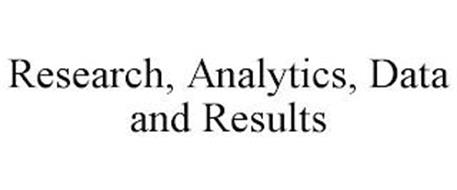 RESEARCH, ANALYTICS, DATA AND RESULTS