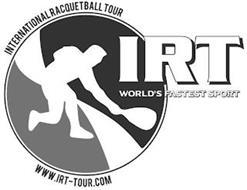 IRT WORLD'S FASTEST SPORT INTERNATIONAL RACQUETBALL TOUR WWW.IRT-TOUR.COM