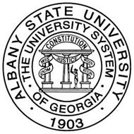 ALBANY STATE UNIVERSITY 1903 THE UNIVERSITY SYSTEM OF GEORGIA CONSTITUTION WISDOM JUSTICE MODERATION