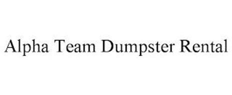 ALPHATEAM DUMPSTER RENTAL