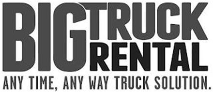 BIG TRUCK RENTAL ANY TIME, ANY WAY TRUCK SOLUTION.