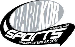 HARDKOR SPORTS PRINTED IN USA HKSPORTSWEAR.COM