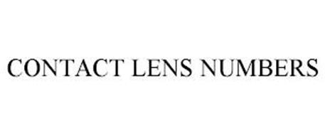 CONTACT LENS NUMBERS