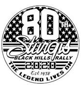 80TH STURGIS BLACK HILLS RALLY 2020 EST. 1938 THE LEGEND LIVES ON