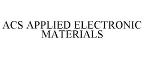 ACS APPLIED ELECTRONIC MATERIALS