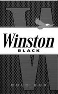 W WINSTON BLACK BOLD BOX