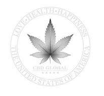 CBD GLOBAL LOVE · HEALTH · HAPPINESS THE UNITED STATES OF AMERICA
