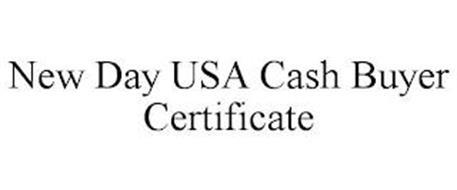 NEWDAY USA CASH BUYER CERTIFICATE