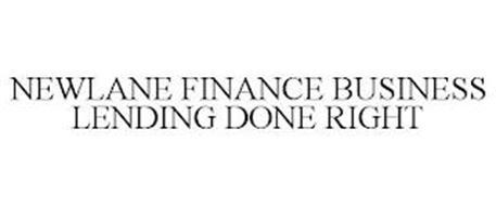 NEWLANE FINANCE BUSINESS LENDING DONE RIGHT