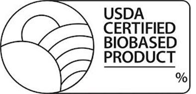 USDA CERTIFIED BIOBASED PRODUCT %