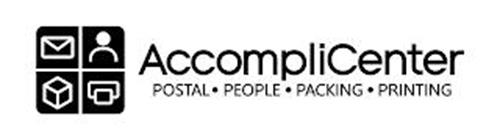 ACCOMPLICENTER POSTAL · PEOPLE · PACKING · PRINTING