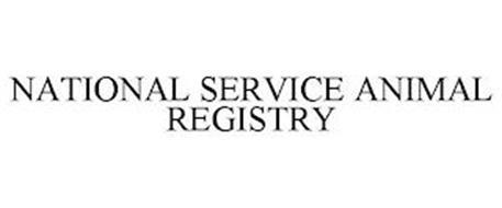 NATIONAL SERVICE ANIMAL REGISTRY