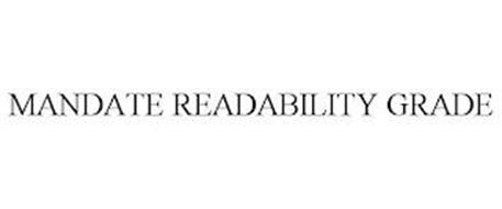 MANDATE READABILITY GRADE