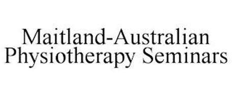 MAITLAND-AUSTRALIAN PHYSIOTHERAPY SEMINARS