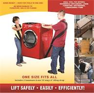 SAVES MONEY PAYS FOR ITSELF IN ONE USE! NO MORE DAMAGE TO FURNITURE WALLS OR FLOORS IDEAL TOOL FOR MOVING: HOUSEHOLD APPLIANCES, LARGE FURNITURE, MATTRESSES, LANDSCAPING ITEMS ONE SIZE FITS ALL INCLUDES 2 HARNESSES & ONE 12' LONG X 5