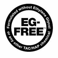 EG-FREE FORMULATED WITHOUT ETHYLENE GLYCOL OR ANY OTHER TAC/HAP CHEMICAL