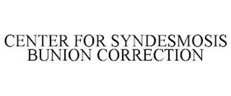 CENTER FOR SYNDESMOSIS BUNION CORRECTION