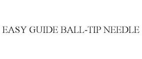 EASY GUIDE BALL-TIP NEEDLE