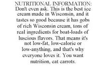 NUTRITIONAL INFORMATION: DON