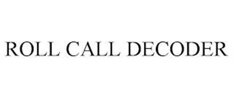 ROLL CALL DECODER