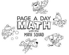 PAGE A DAY MATH WITH THE MATH SQUAD