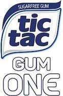 TIC TAC GUM ONE SUGARFREE GUM