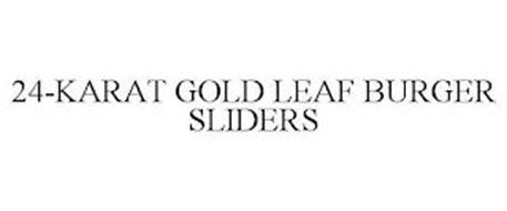 24-KARAT GOLD LEAF BURGER SLIDERS