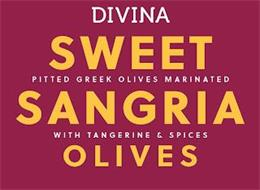 DIVINA SWEET SANGRIA OLIVES PITTED GREEK OLIVES MARINATED WITH TANGERINE & SPICES
