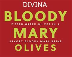 DIVINA BLOODY MARY OLIVES PITTED GREEK OLIVES IN A SAVORY BLOOD MARY BRINE