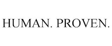 HUMAN. PROVEN.