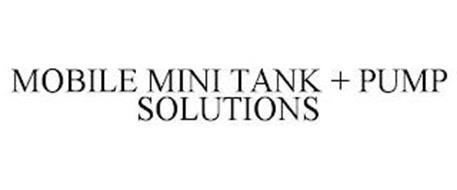 MOBILE MINI TANK + PUMP SOLUTIONS