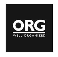 ORG WELL ORGANIZED