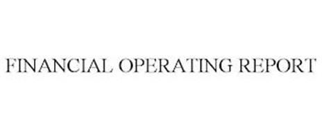 FINANCIAL OPERATING REPORT