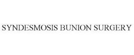 SYNDESMOSIS BUNION SURGERY