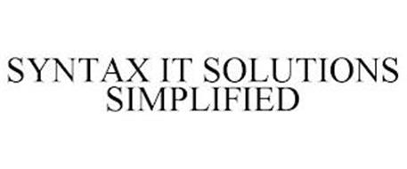 SYNTAX IT SOLUTIONS SIMPLIFIED