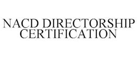 NACD DIRECTORSHIP CERTIFICATION