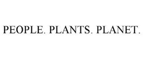 PEOPLE. PLANTS. PLANET.