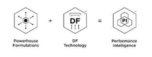 POWERHOUSE FORMULATIONS + DF DF TECHNOLOGY = PI PERFORMANCE INTELLIGENCE